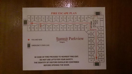 fire exit map behind hotel guest room housekeeping hotel manament study eshopitalitystudy housekeeping