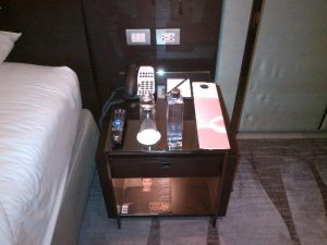 bed side table in hotel guest room housekeeping hotel manament study eshopitalitystudy housekeeping