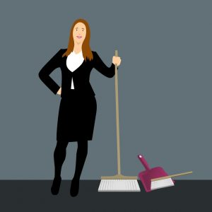 cleaning service, house cleaning, broom